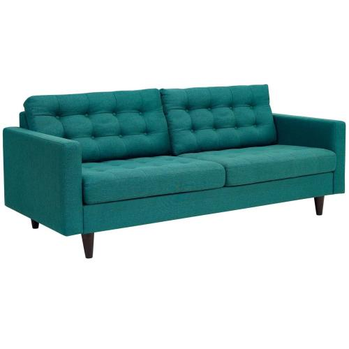 Modway - Empress Sofa and Loveseat Set of 2 in Teal