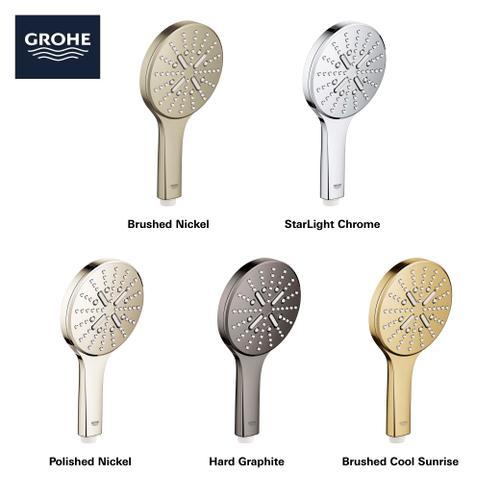 Grohe - Rainshower Smartactive Hand Shower - 3 Sprays, 1.75 Gpm