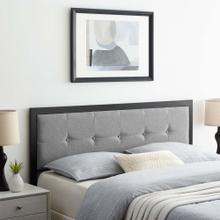 Teagan Tufted Full Headboard in Black Light Gray