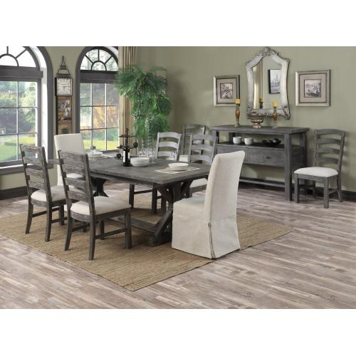 """Emerald Home Paladin Dining Table Kit W/28"""" Butterfly Leaf Rustic Charcoal D350-10-03-k"""
