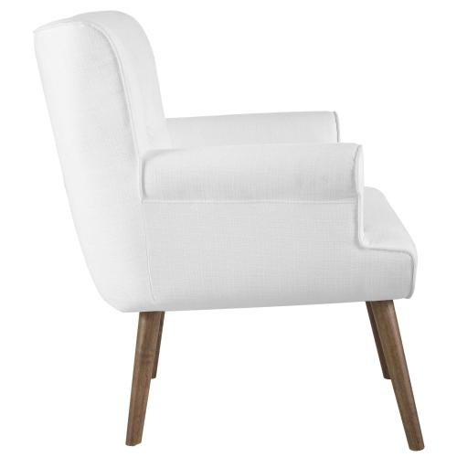 Cloud Upholstered Armchair in White