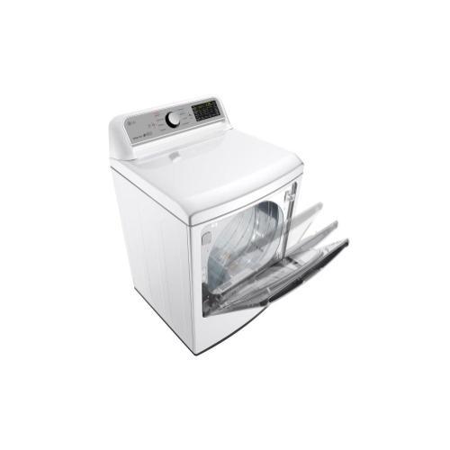 LG - 7.3 cu. ft. Smart wi-fi Enabled Gas Dryer w/ Sensor Dry Technology