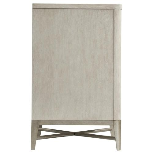 Maisie - Three Drawer Nightstand - Champagne Finish