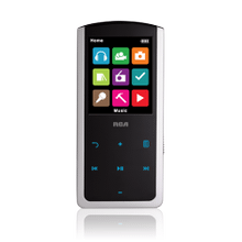 8GB digital media player with 2-inch display and touch control navigation