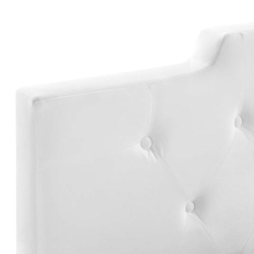Juliet Tufted King/California King Performance Velvet Headboard in White