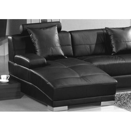 Divani Casa 3334 Ultra Modern Black Bonded Leather Sectional Sofa