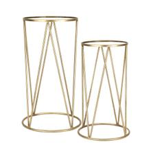 """S/2 Metal /mirror 28 /24"""" Accent Tables, Gold"""