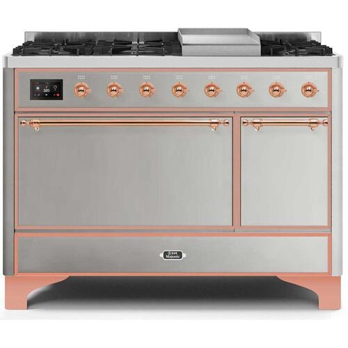 "48"" Inch Stainless Steel Natural Gas Freestanding Range"
