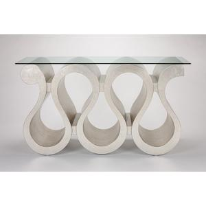 """Console Table with Glass 60x15x32.5"""""""