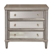 Modern Three Drawer Mirrored Front Chest