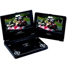 7 inch slim line dual screen portable DVD