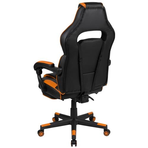 Gallery - X40 Gaming Chair Racing Ergonomic Computer Chair with Fully Reclining Back\/Arms, Slide-Out Footrest, Massaging Lumbar - Black\/Orange