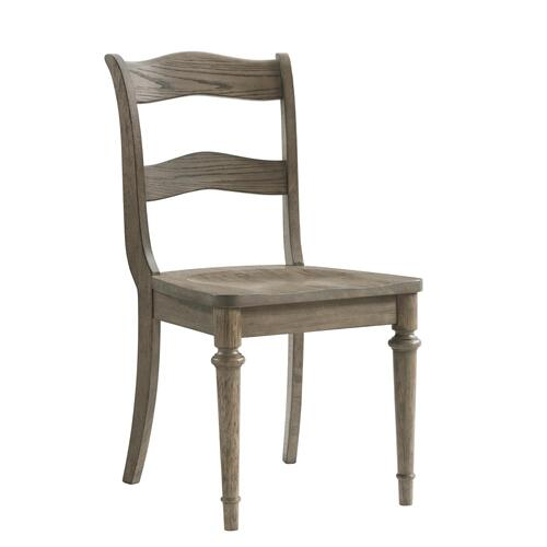 Louis Farmhouse - Upholstered Side Chair - Antique Oak Finish