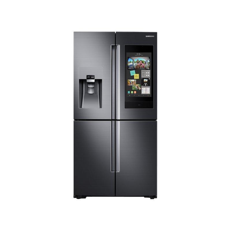 22 cu. ft. Family Hub™ Counter Depth 4-Door Flex™ Refrigerator in Black Stainless Steel