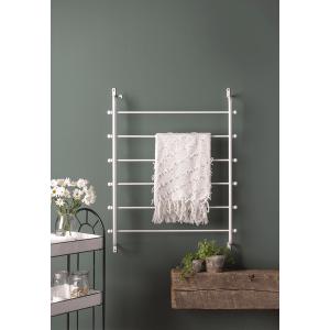 White Wall Mounted Blanket Rack