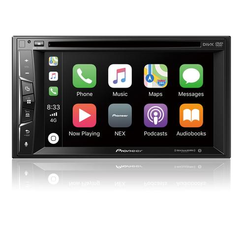 """Multimedia DVD Receiver with 6.2"""" WVGA Display, Apple CarPlay , Built-in Bluetooth ® , and SiriusXM-Ready"""