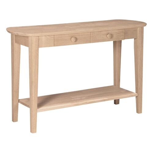 Whitewood Industries - Unfinished Phillips Sofa Table