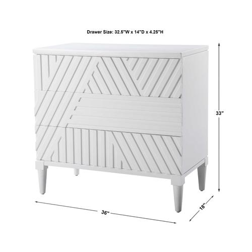 Colby 3 Drawer Chest, White