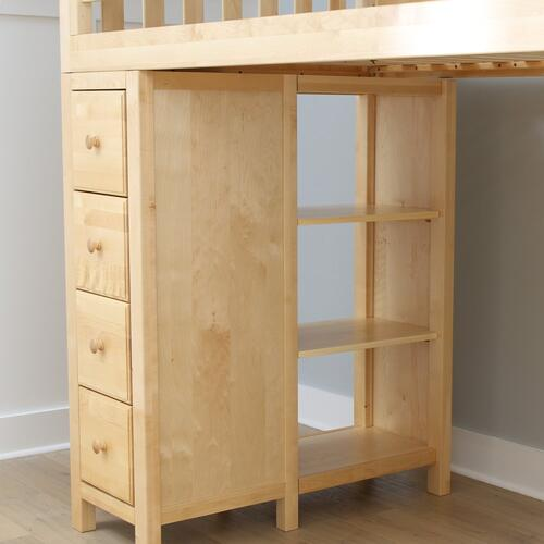 All in One Loft Bed Storage Study White