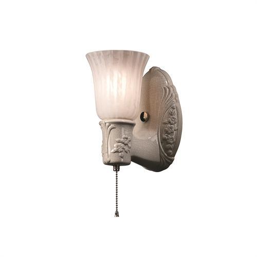 Heirloom Oval w/ Uplight Glass Shade