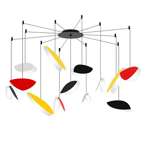 Sonneman - A Way of Light - Papillons LED Pendant [Size=13-Light Swag, Color/Finish=Assorted Shade Colors]