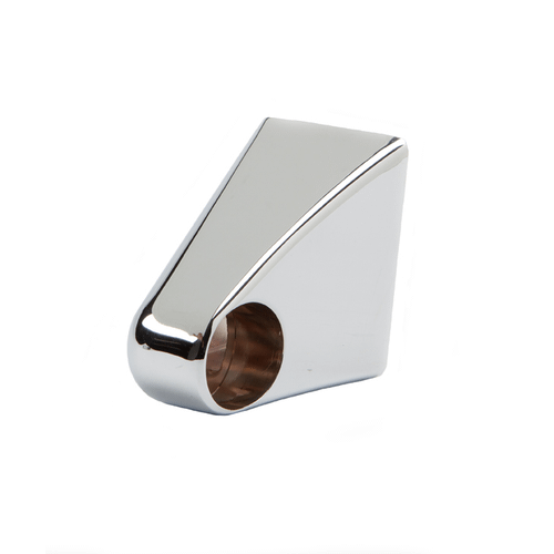 Left Hand Lid Handle End Cap - Bright Chrome Plated