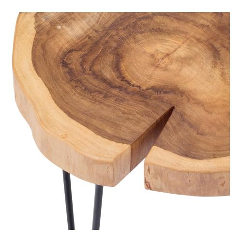 Ares KD Teak End Table, Natural