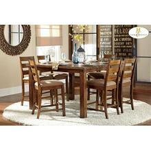 See Details - 5PC SET (Counter Height Table with 4 Stools)
