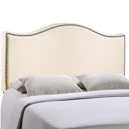 Modway - Curl King Nailhead Upholstered Headboard in Ivory