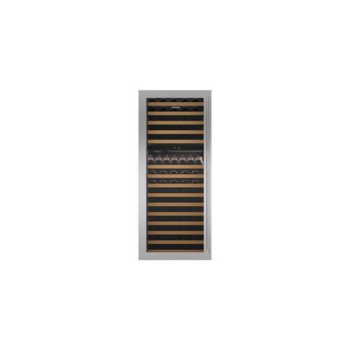"""Classic 30"""" Wine Storage Stainless Steel Dual Flush Inset Door Panel with Tubular Handle"""