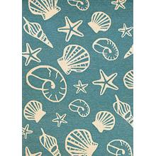 Outdoor Escape Cardita Shells - Turquoise-Ivory 7334/0220