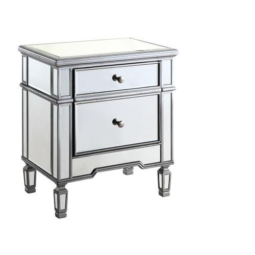 1 Door Cabinet 24 in. x 16 in. x 27 in. in Silver paint