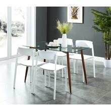 Abbot/Bruno 5pc Dining Set, White
