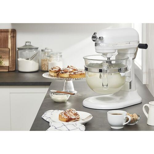 Professional 6500 Design™ Series 6 Quart Bowl-Lift Stand Mixer - Frosted Pearl White