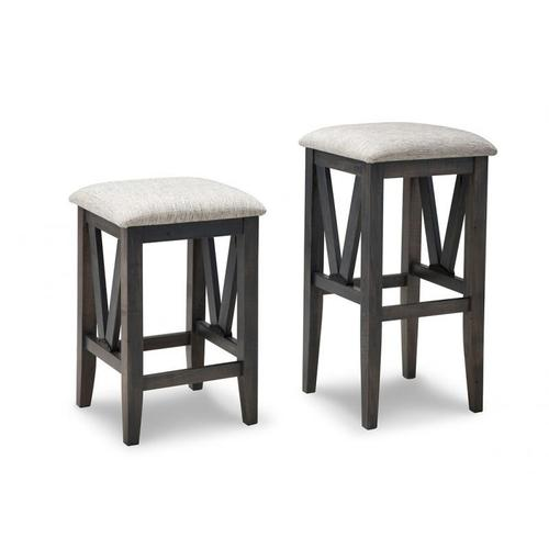 """Chattanooga 30"""" Bar Stool With Wood Seat"""
