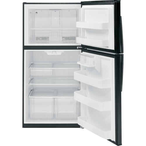 GE 21.2 cu.ft. Top Freezer Refrigerator Black GTE21GTHBB
