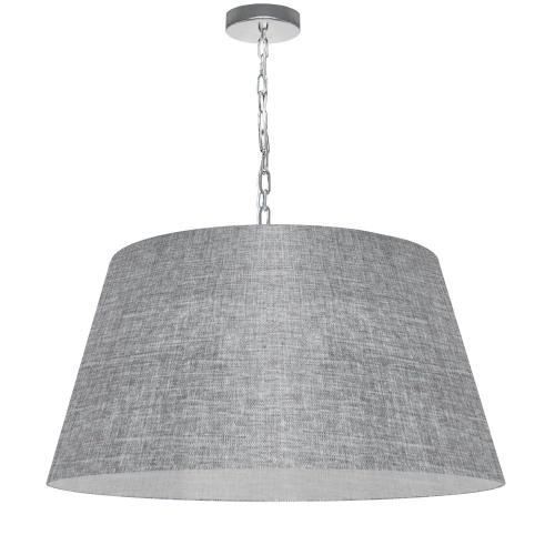 1lt Brynn Large Pendant, Grey/clear Shade, PC