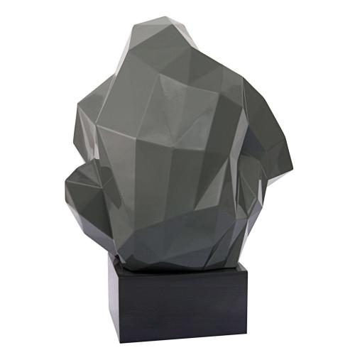 Tov Furniture - Pondering Ape Large Sculpture - Grey and Gold