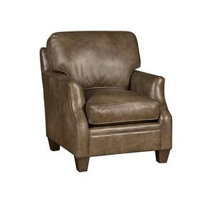 Cory Leather Chair, Cory Ottoman
