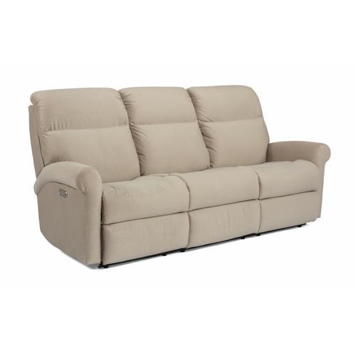 Flexsteel - Davis Power Reclining Sofa with Power Headrests
