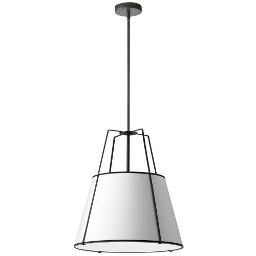 3lt Trapezoid Pendant Black/wh Shade W/ 790 Diff
