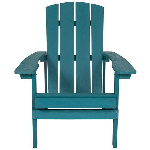 Flash Furniture - Charlestown All-Weather Poly Resin Wood Adirondack Chair in Sea Foam