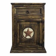See Details - Right Medio Nightstand W/Stone Star