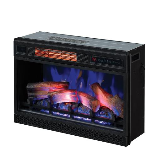 """Classic Flame - 26"""" 3D Infrared Quartz Electric Fireplace Insert with Safer Plug® and Safer Sensor™"""