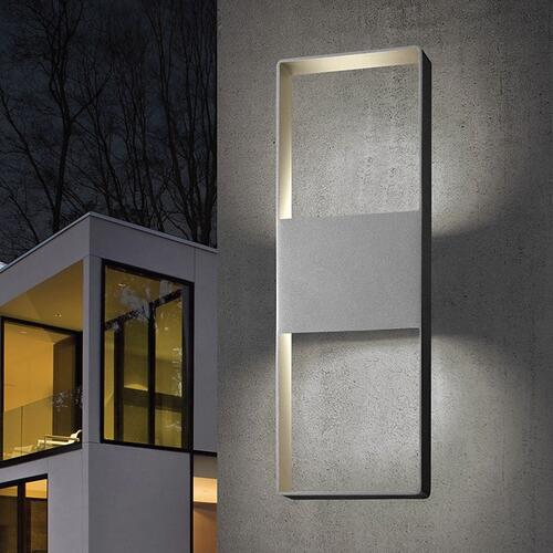 "Sonneman - A Way of Light - Light Frames Up/Down LED Sconce [Size=21"", Color/Finish=Textured Bronze]"