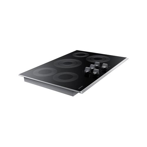 "30"" Electric Cooktop in Stainless Steel"