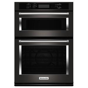 "KITCHENAID30"" Combination Wall Oven with Even-Heat(TM) True Convection (Lower Oven) - Black Stainless Steel with PrintShield(TM) Finish"