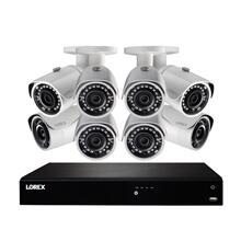 2K Ultra HD 16-Channel Security System with 3 TB NVR and Eight Super HD Bullet Security Cameras with Color Night Vision and Smart Home Control
