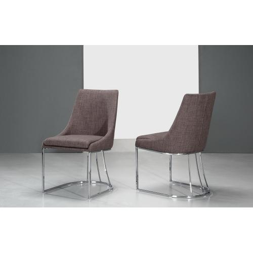 Itasca - Modern Grey Fabric Dining Chair (Set of 2)