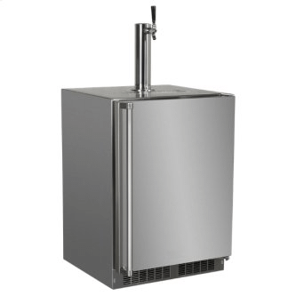 24-In Outdoor Built-In Dispenser For Beer, Wine Or Draft Beverages with Door Style - Stainless Steel